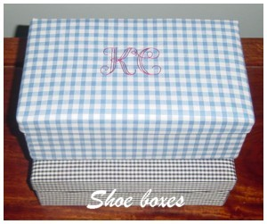 monogrammed shoe boxes fabric covered box with monogram needlepassion needle passion npe ltd embroidery designs design outline alphabet