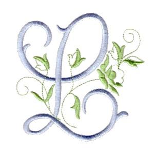Alphabet - The Rose monogram alphabet for machine embroidery NPE
