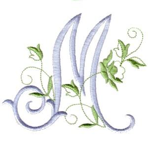 alphabet the rose monogram alphabet for machine embroidery npe