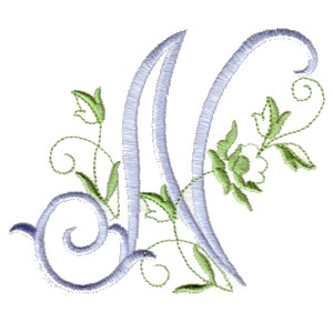 N Alphabet Design Alphabet - The Rose monogram alphabet for machine embroidery NPE