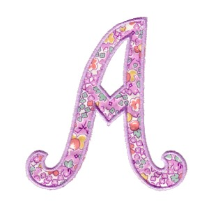 Applique Script Alphabet Letter A For Machine Embroidery From Needle Passion Design Designs