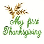 my first thanksgiving script lettering machine embroidery design baby toys kids children art pes hus dst