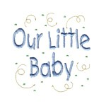 Our little baby lettering with confetti machine embroidery design from http://www.needlepassionembroidery.com