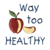 apple way too healty baby attitude machine embroidery design needle passion embroidery npe