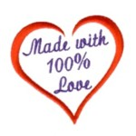 heart frame made with 100 percent love lettering text slogan machine embroidery design