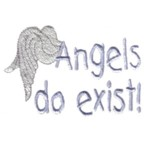 angels do exist lettering text with angels wings machine embroidery design baby toys kids children art pes hus dst