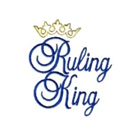 machine embroidery ruling king script lettering with crown machine embroidery design art pes hus jef dst exp needle passion embroidery npe needlepassion