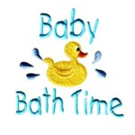 baby bath time lettering with rubber duck towel machine embroidery design baby toys kids children art pes hus dst