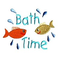 bath time fun fish baby attitude machine embroidery design needle passion embroidery npe