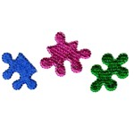 jigsaw puzzle pieces machine embroidery design baby toys kids children art pes hus dst