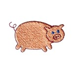 pig little piggy machine embroidery design animal baby toys kids children art pes hus dst