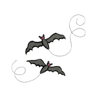 bats halloween design flying critter insect machine embroidery design swirl swirly trail swirls cute bug needle passion embroidery needlepassion npe bernina artista art pes hus jef dst designs