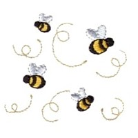 swarm of bees machine embroidery design fun bumble bees summer art pes hus dst needle passion embroidery npe