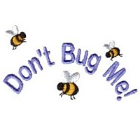 don't bug me lettering machine embroidery design fun bumble bees summer art pes hus dst needle passion embroidery npe