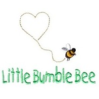 little bumble bee lettering machine embroidery design fun bumble bees summer art pes hus dst needle passion embroidery npe