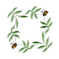 machine embroidery design fun bumble bees summer art pes hus dst needle passion embroidery npe