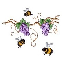 grapevine machine embroidery design fun bumble bees summer art pes hus dst needle passion embroidery npe