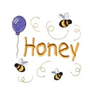 honey with bumble bees baby attitude machine embroidery design needle passion embroidery npe