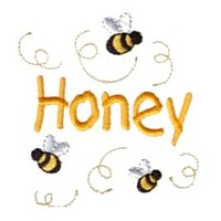 honey lettering machine embroidery design fun bumble bees summer art pes hus dst needle passion embroidery npe
