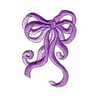 Bow machine embroidery design from Needle Passion Embroidery