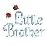 machine embroidery little brother lettering with ladybugs from Neelde Passion Embroidery