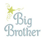 machine embroidery big brother lettering with star from Neelde Passion Embroidery