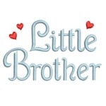 machine embroidery little brother lettering with hearts from Neelde Passion Embroidery