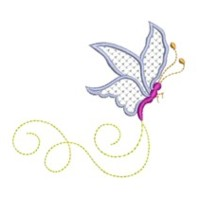 butterfly critter insect machine embroidery design swirl swirly trail swirls cute bug needle passion embroidery needlepassion npe bernina artista art pes hus jef dst designs