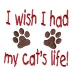 i wish i had my cat's life paws machine embroidery design feline art pes hus dst needle passion embroidery npe