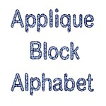 Machine embroidery designs applique block alphabet from Needle Passion Embroidery