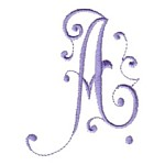 Splendor Monogram Alphabet letter A machine embroidery design from http://www.needlepassionembroidery.com