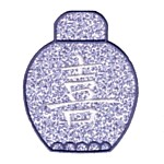Ginger Jar Applique machine embroidery design from Needle Passion Embroidery machine embroidery design art pes hus jef dst exp needle passion embroidery