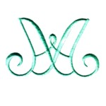 Intertwined heirloom alphabet letters AA machine embroidery design from http://www.needlepassionembroidery.com