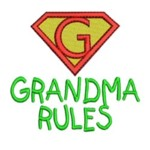 bernina machine embroidery designs grandma rules slogan superhero designs