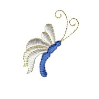sideview of butterfly bug critter insect npe needlepassion needle passion embroidery machine embroidery design designs