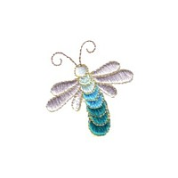 turquoise mayfly bug dragonfly critter insect npe needlepassion needle passion embroidery machine embroidery design designs