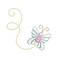 mayfly butterfly critter insect machine embroidery design swirl swirly trail swirls cute bug needle passion embroidery needlepassion npe bernina artista art pes hus jef dst designs