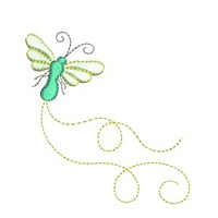 butterfly critter insect machine embroidery design swirl swirly trail swirls cute bug dragonfly mayfly needle passion embroidery needlepassion npe bernina artista art pes hus jef dst designs