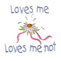 loves me loves me not machine embroidery design daisy daisies flower embroidery machine embroidery design npe