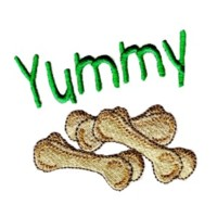 yummy dog bones dog machine embroidery design pet doggy paws needle passion embroidery npe