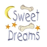 sweet dreams lettering dog bones moon stars dog machine embroidery design pet doggy paws needle passion embroidery npe