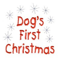 dog's first christms dog machine embroidery design pet doggy paws needle passion embroidery npe