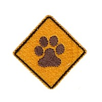 paw sign dog machine embroidery design pet doggy paws needle passion embroidery npe