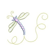 dragonfly butterfly critter insect machine embroidery design swirl swirly trail swirls cute bug needle passion embroidery needlepassion npe bernina artista art pes hus jef dst designs