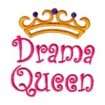 drama queen machine embroidery design girl girls rule diva girly queen crown confetti lettering text slogan art pes hus dst needle passion embroidery npe
