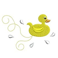 bath yellow rubber duck toy butterfly critter insect machine embroidery design swirl swirly trail tail swirls cute needle passion embroidery needlepassion npe bernina artista art pes hus jef dst designs
