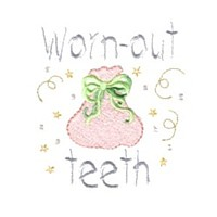 worn out teeth sack tooth fairy machine embroidery fairy dust girls magic stuff confetti lettering design art pes hus dst needle passion embroidery npe