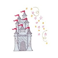 fairy castle machine embroidery fairy dust girls magic stuff confetti lettering design art pes hus dst needle passion embroidery npe