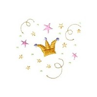 crown in fairy dust glitter machine embroidery fairy dust girls magic stuff confetti lettering design art pes hus dst needle passion embroidery npe