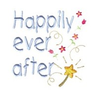 happily ever after lettering machine embroidery fairy dust girls magic stuff confetti lettering design art pes hus dst needle passion embroidery npe